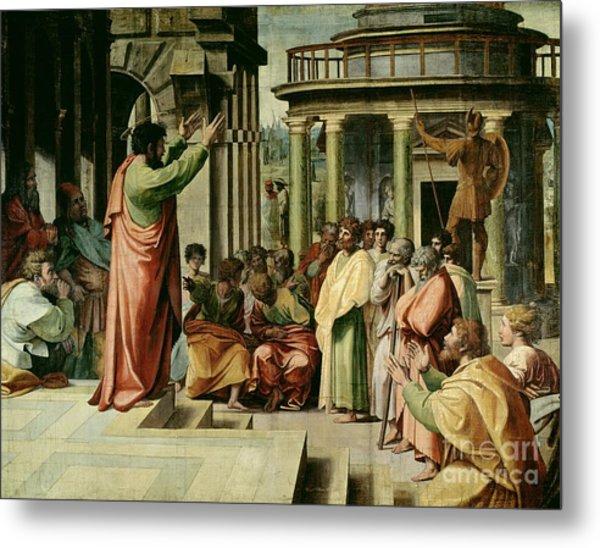 St. Paul Preaching At Athens  Metal Print