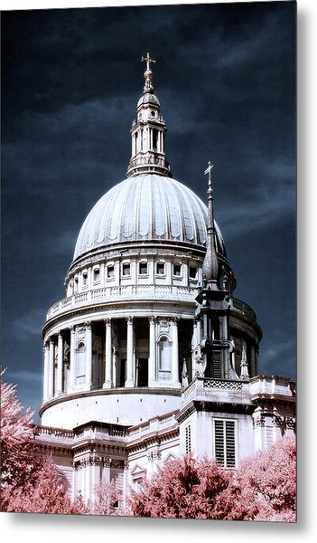 Metal Print featuring the photograph St. Paul's Cathedral's Dome, London by Helga Novelli