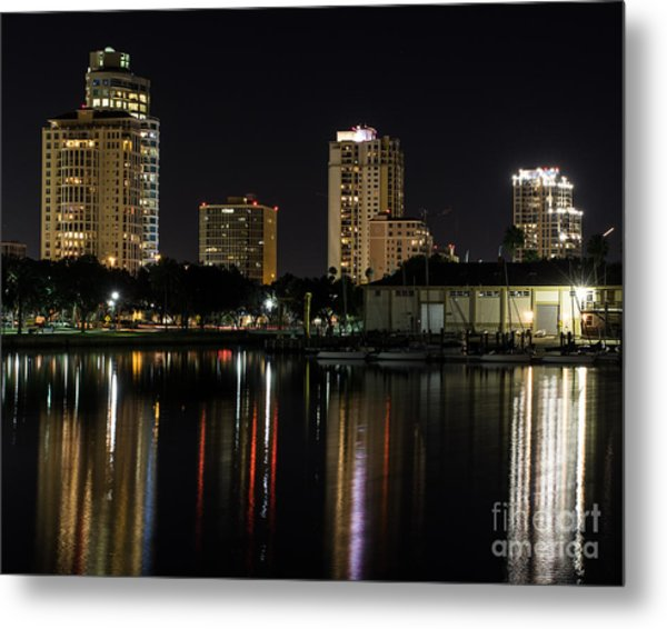 St. Pete At Night Metal Print