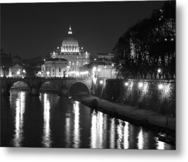 St. Peters At Night Metal Print