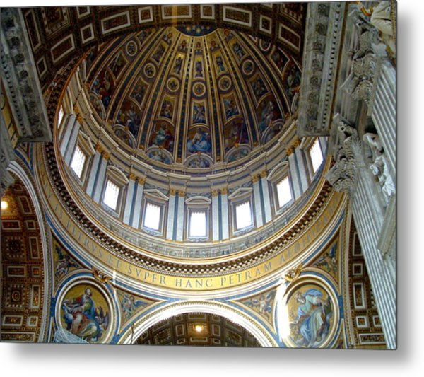 St. Peters Basilica Dome Metal Print