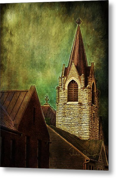 St Peter's By Night Metal Print