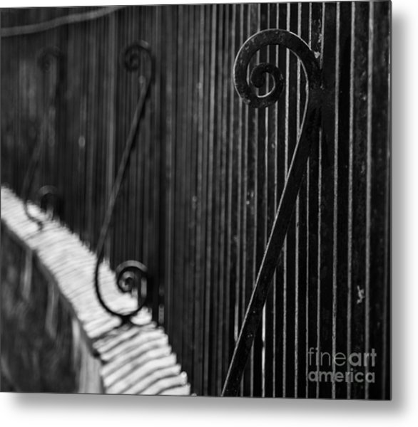 St. Philip's Episcopal Church Cemetery Iron Fence Metal Print