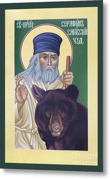 St. Seraphim Of Sarov - Rlses Metal Print