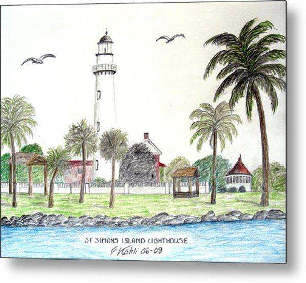 St Simons Island Lighthouse  Metal Print by Frederic Kohli