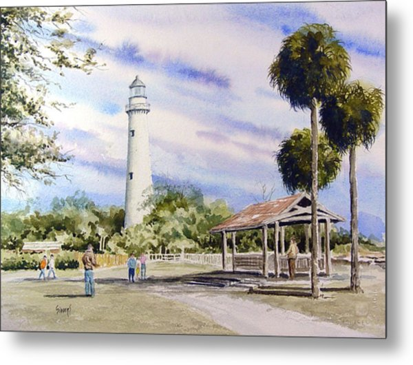 St. Simons Island Lighthouse Metal Print