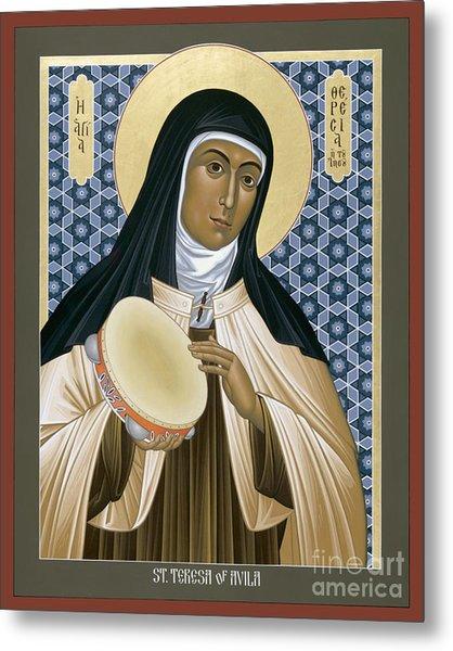 St. Teresa Of Avila - Rltoa Metal Print