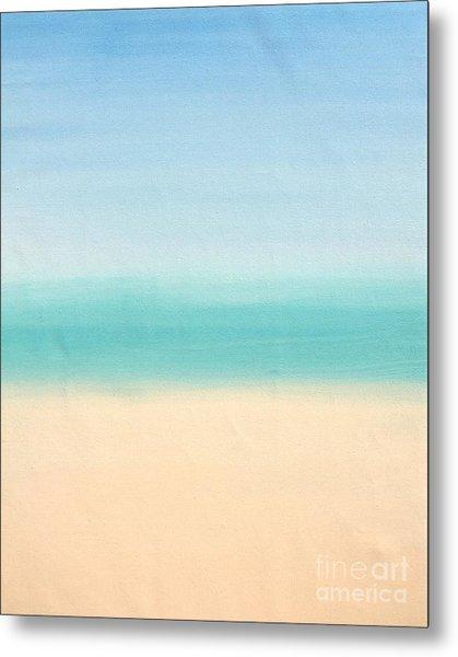 St Thomas #3 Seascape Landscape Original Fine Art Acrylic On Canvas Metal Print