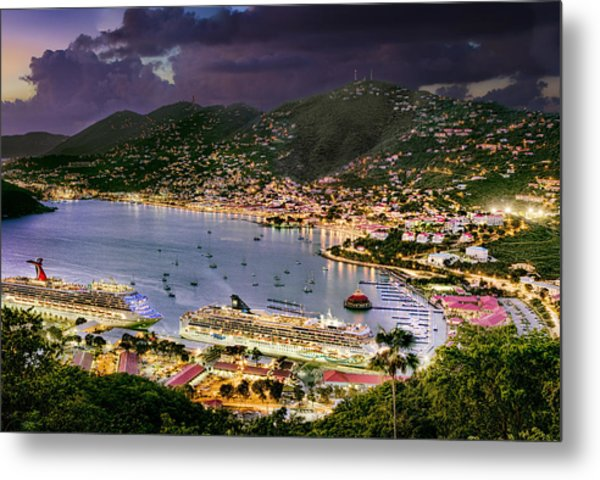 St Thomas Nights Metal Print