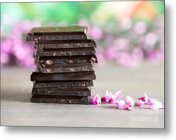 Stack Of Chocolate Metal Print