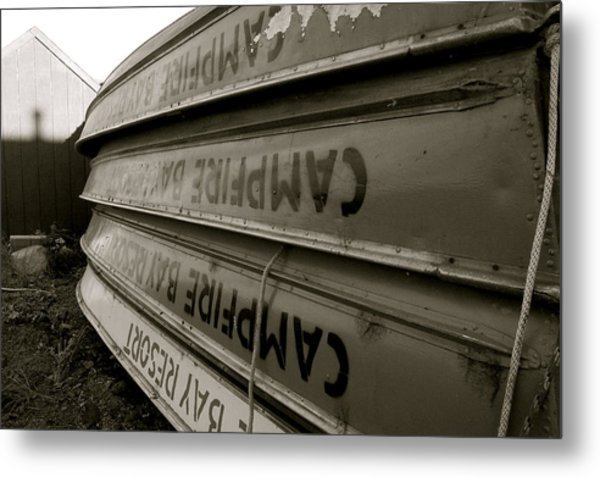 Stacked Boats Metal Print by Tess Haun