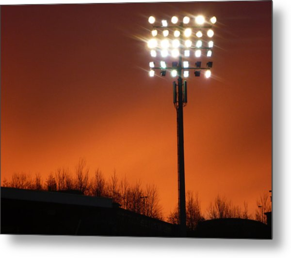 Stadium Lights Metal Print