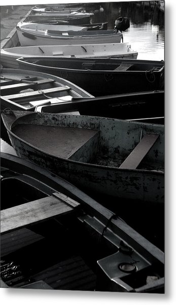 Staggered Boats Metal Print by Jez C Self