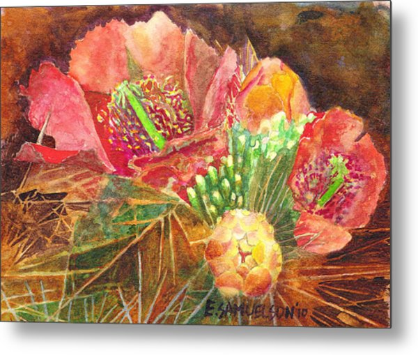 Staghorn In Bloom Metal Print