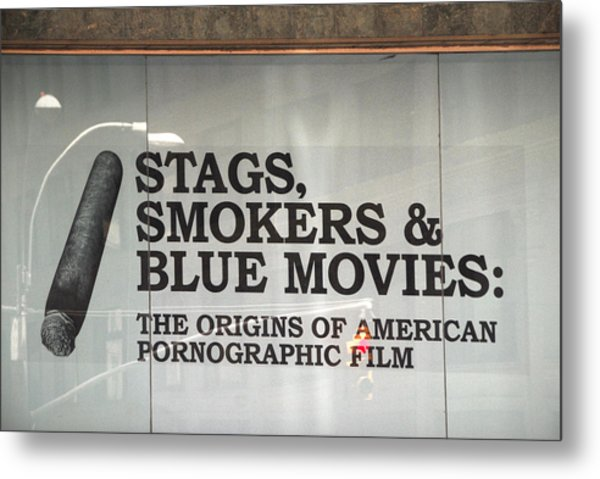 Stags Smokers And Blue Movies Metal Print by James Zuffoletto