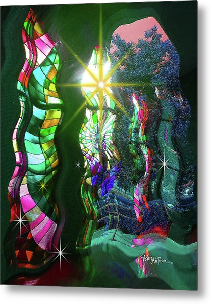 Stained Glass #4719_2 Metal Print