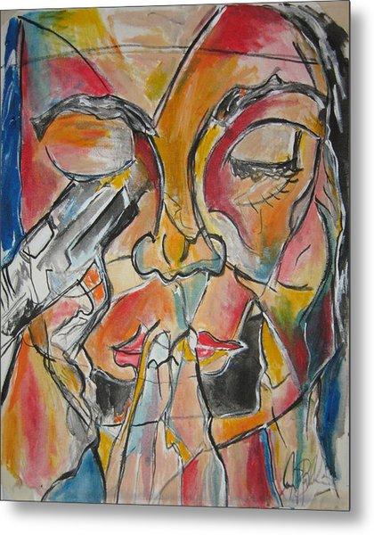 Stained Glass Assassinatiion Metal Print by Jon Baldwin  Art