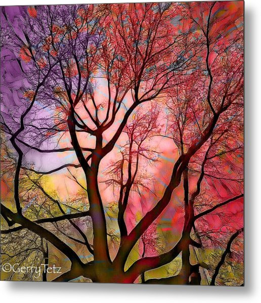 Stained Glass Sunrise 2 Metal Print