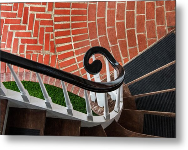 Staircase To The Plaza Metal Print