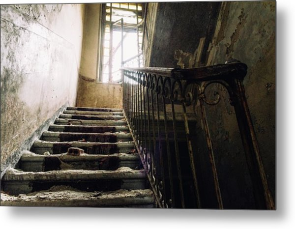 Stairs In Haunted House Metal Print