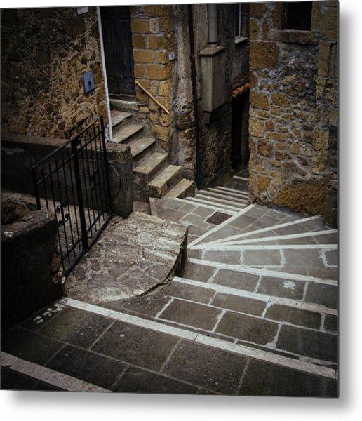 Stairs In Motion Metal Print