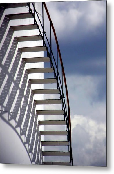 Stairs In The Sky Metal Print by David April