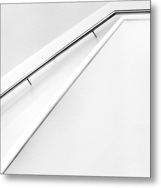 Stairs Lines Metal Print