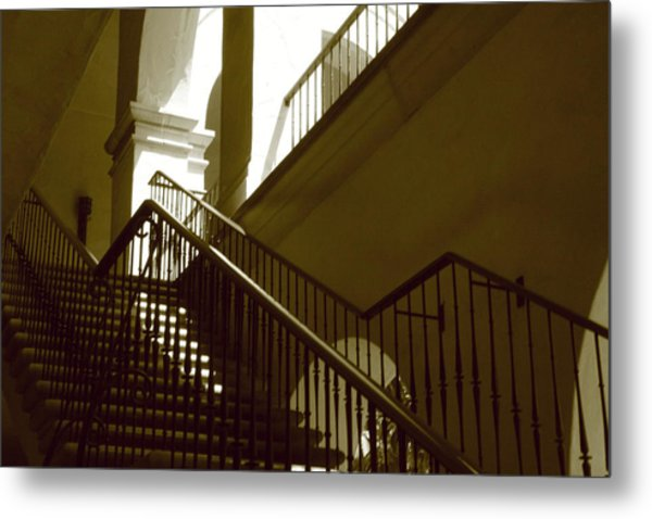 Stairs To 2nd Floor Metal Print by Nicholas J Mast