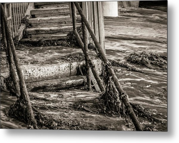Stairs Under Sand Metal Print