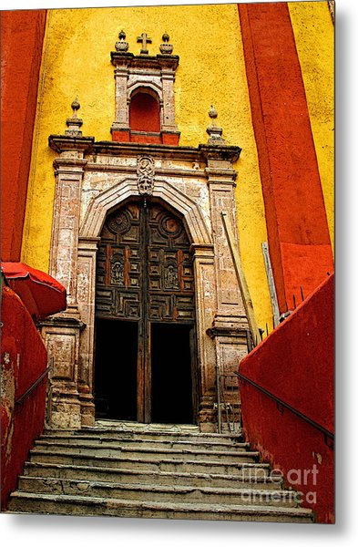 Stairway To The Cathedral Metal Print by Mexicolors Art Photography
