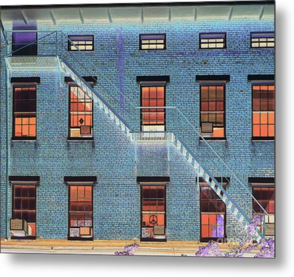 Stairwell At 2am Metal Print