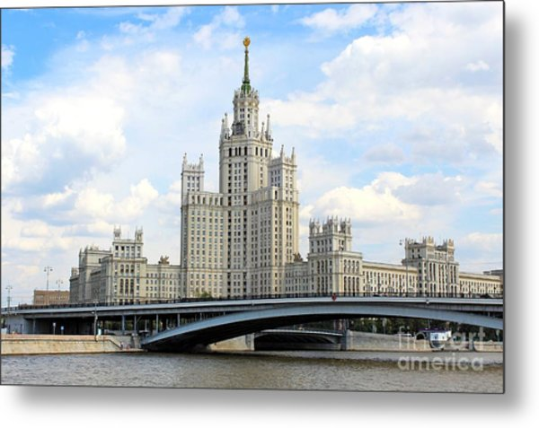 Kotelnicheskaya Embankment Building Metal Print
