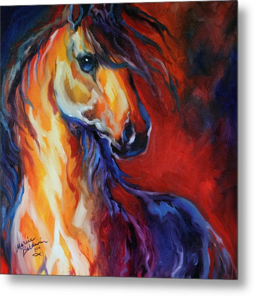 Stallion Red Dawn Metal Print