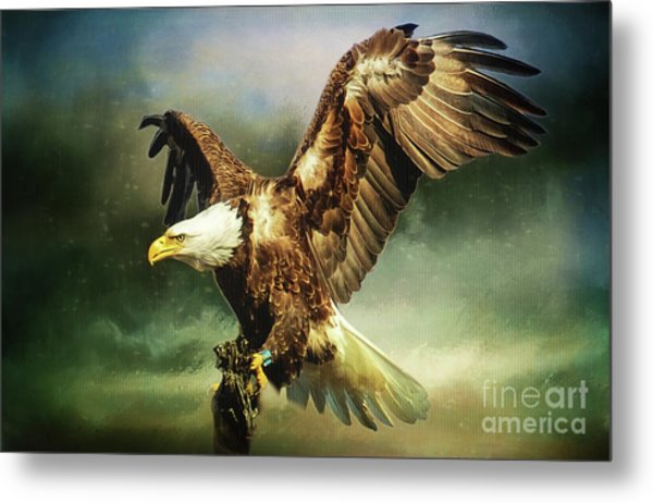 Standing Against The Storm Metal Print