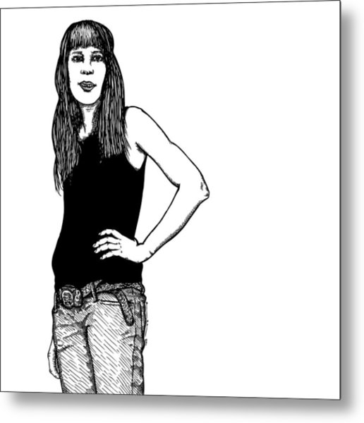Standing Lady Metal Print by Karl Addison