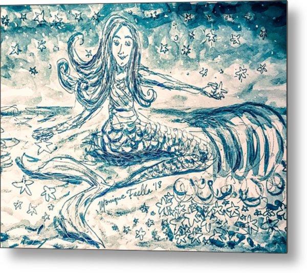 Star Bearer Mermaid Metal Print