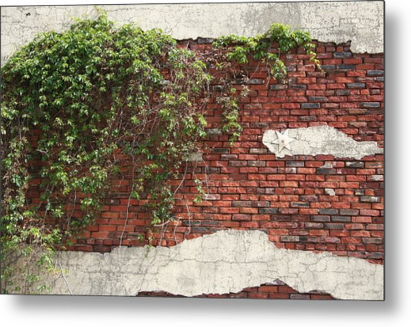 Star Bricks Metal Print