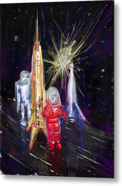 Star City Metal Print by Russell Pierce