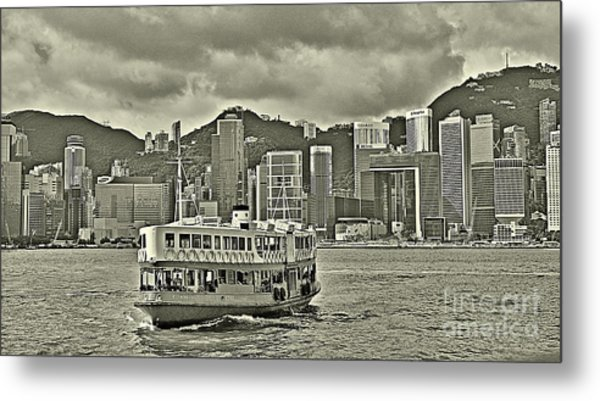 Star Ferry In Hong Kong Metal Print