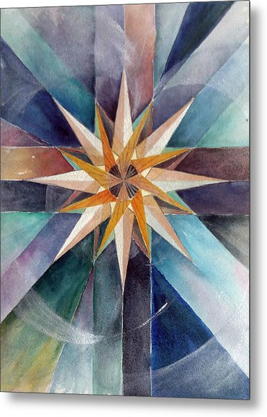 Star Mandala 2  Metal Print