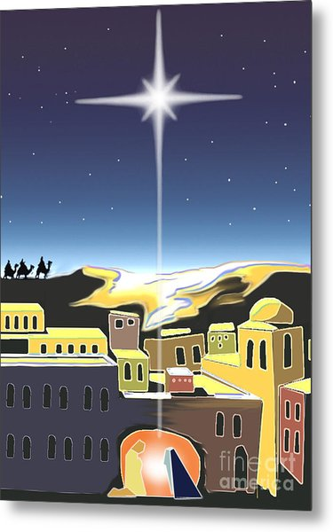 Star Of Bethlehem Metal Print by Larry Cole