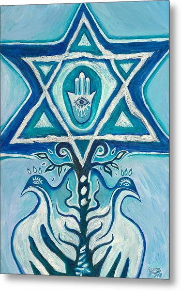 Star Of David Metal Print