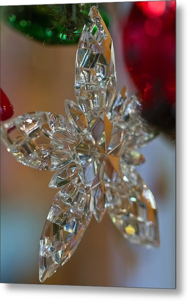 Star Ornament Metal Print