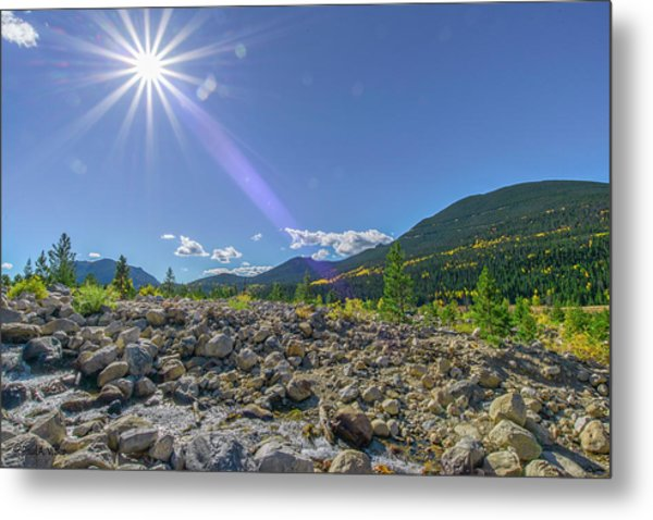 Star Over Creek Bed Rocky Mountain National Park Colorado Metal Print