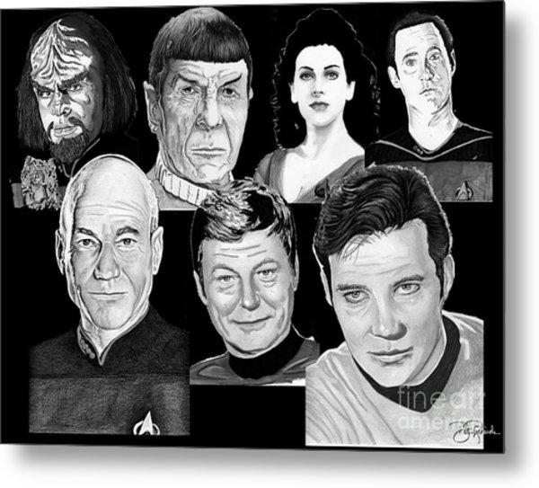 Star Trek Crew Metal Print