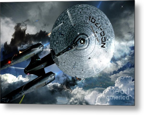 Star Trek Into Darkness, Original Mixed Media Metal Print