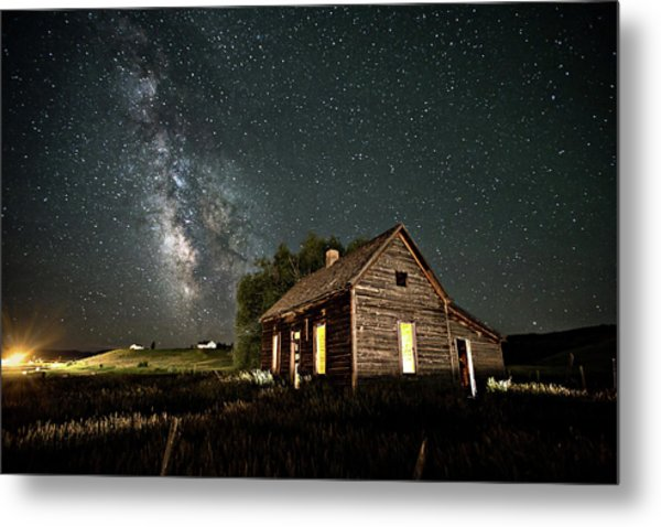 Star Valley Cabin Metal Print