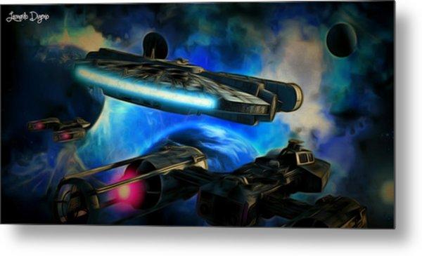 Star Wars Approaching - Da Metal Print