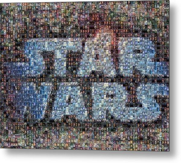 Star Wars Posters Mosaic Metal Print