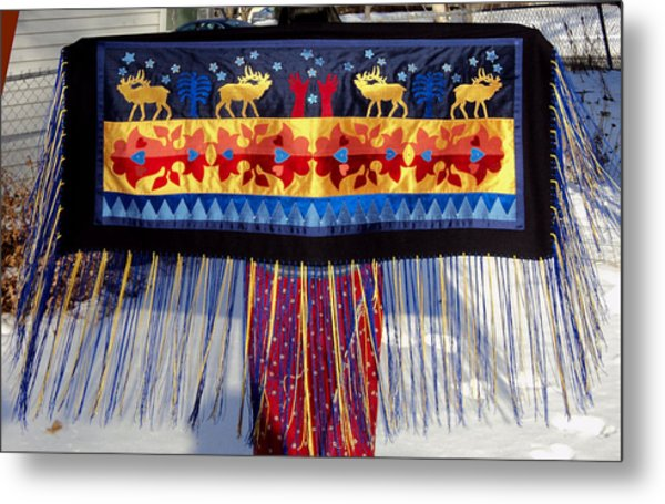 Metal Print featuring the tapestry - textile Star Whistling by Chholing Taha